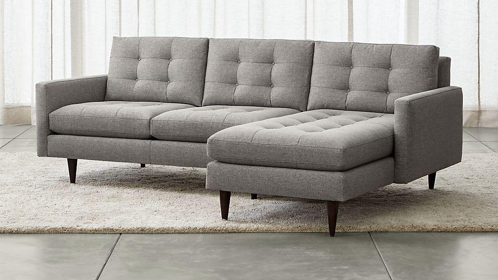 Petrie 2 piece right arm chaise sectional sofa jonas felt for 2 piece chaise sectional