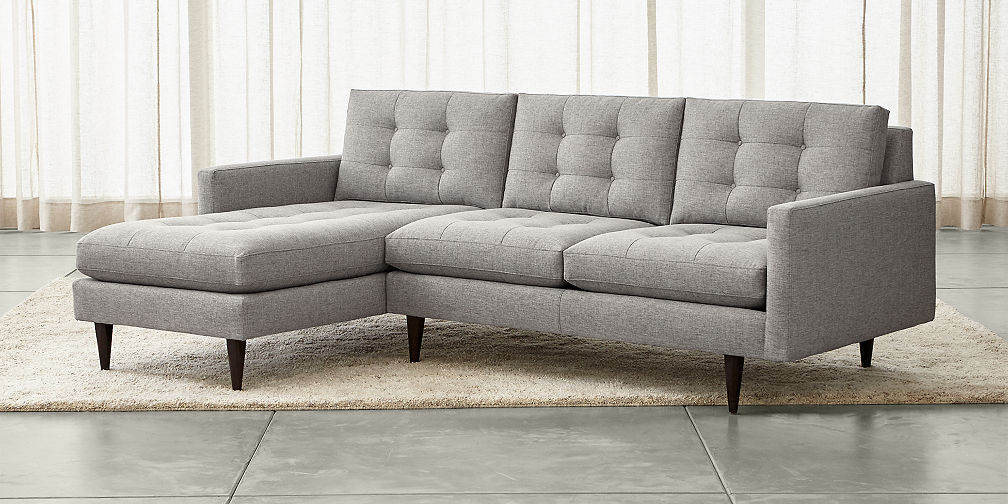 Sectional Sofas: Leather and Fabric  Crate and Barrel