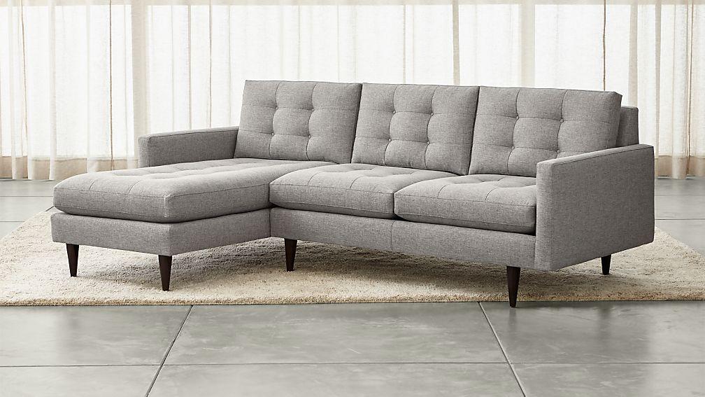 Petrie 2 piece left arm chaise sectional sofa jonas felt for 2 piece chaise sectional