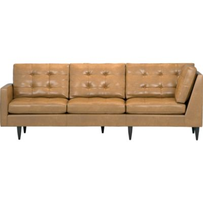 Petrie Leather Sectional Left Arm Corner Sofa