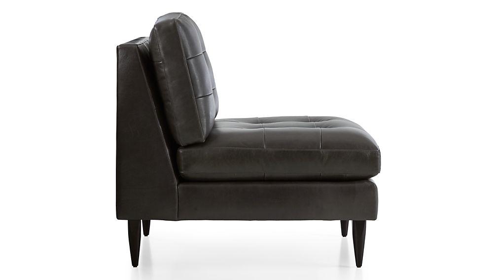 Petrie Armless Leather Chair