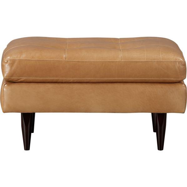 Petrie Leather Ottoman