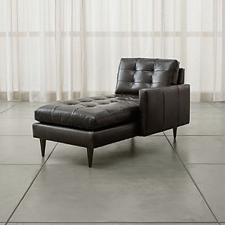 Petrie Leather Right Arm Chaise Lounge