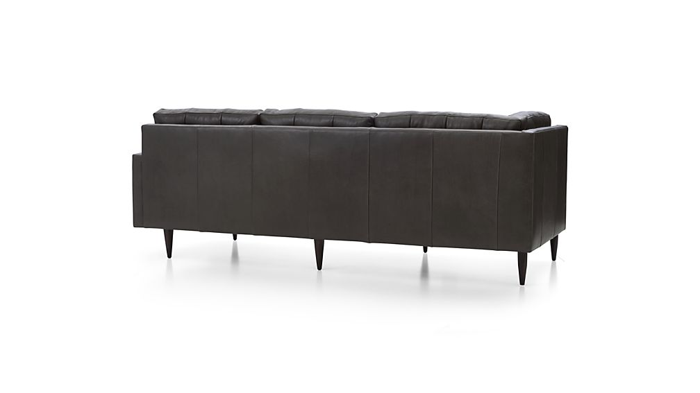 Petrie Leather Right Arm Corner Sofa