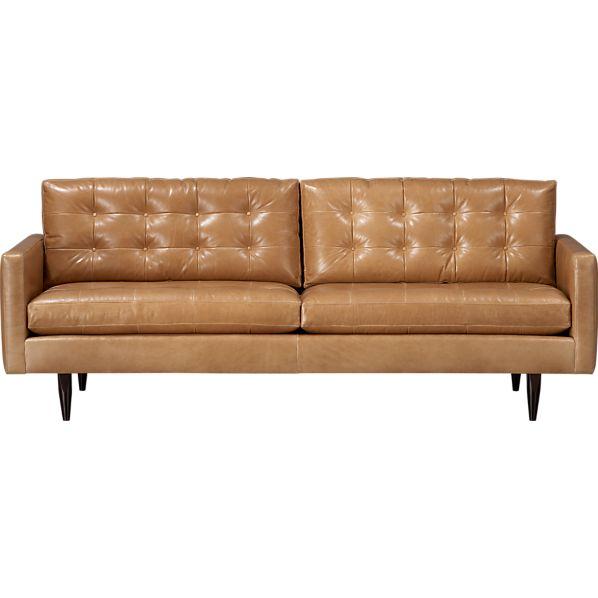 """Petrie Leather 86"""" Sofa"""