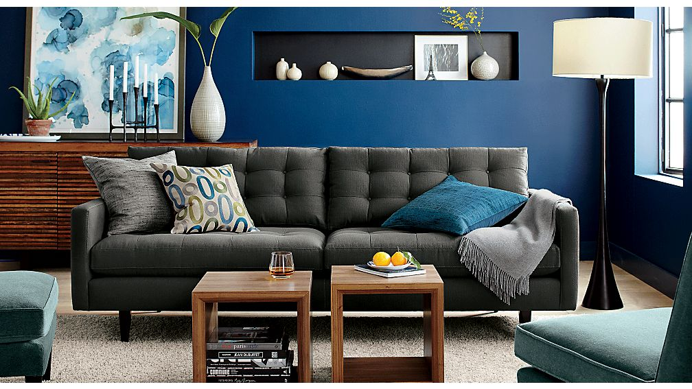 petrie sofa crate and barrel. Black Bedroom Furniture Sets. Home Design Ideas