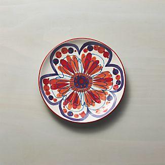 Petula Red Salad Plate