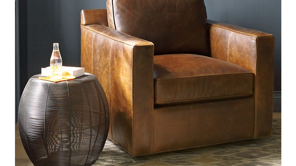 Davis Leather Swivel Chair