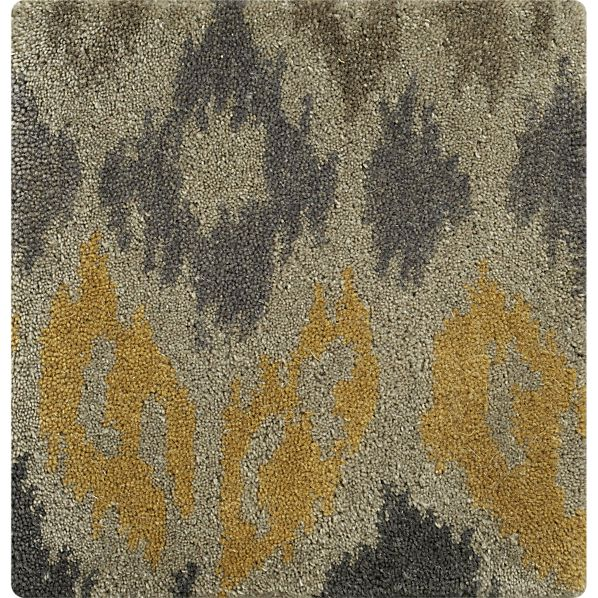 "Phila Ikat Wool 12"" sq. Rug Swatch"