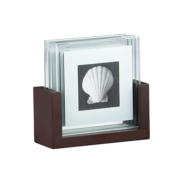 5-Piece Photo Coaster Set | Crate&Barrel | Coasters | Modern Home Decor