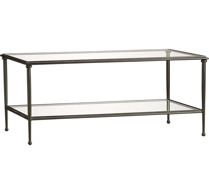 where to buy coffee table with glass top and metal frame