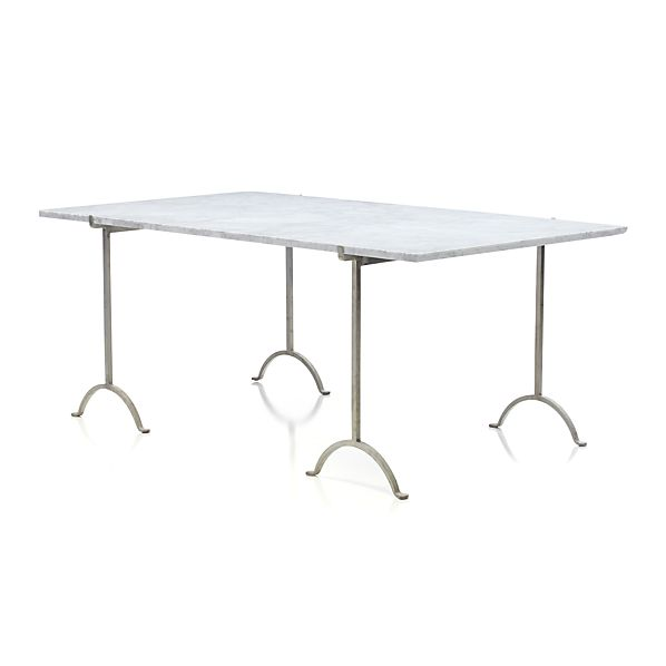 "Pic-nic 71"" Rectangular Marble Top Table"