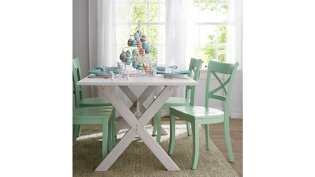 Vintner Mint Wood Dining Chair Crate And Barrel