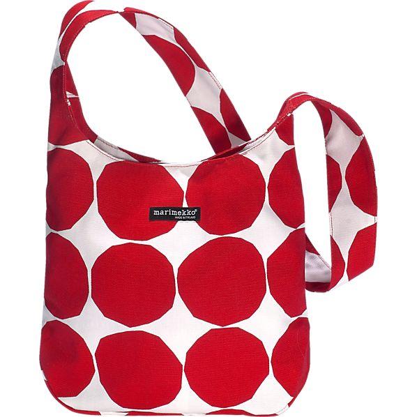 Marimekko Pienet Kivet Kvartsi Red and White Bag