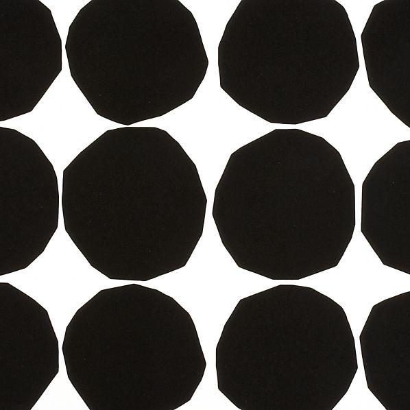 Marimekko Pienet Kivet Black and White Gift Wrap
