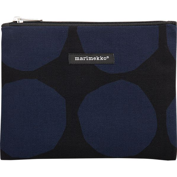 Marimekko Pienet Kivet Kivi Navy and Black Bag