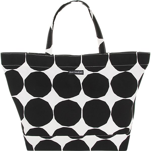 Marimekko Pienet Kivet Opaali Black and White Bag