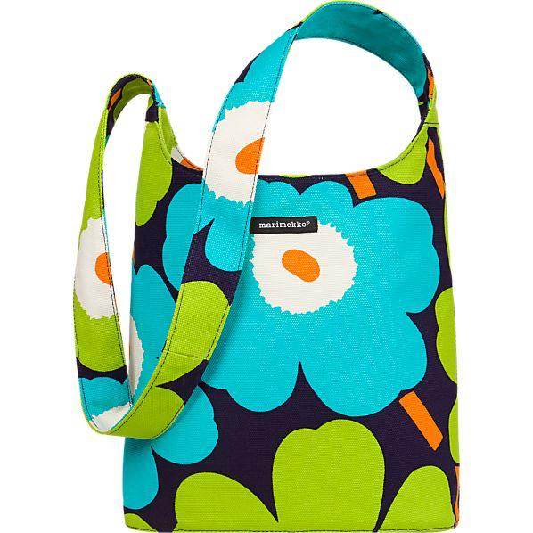 Marimekko Pieni Unikko Aqua Magone Bag