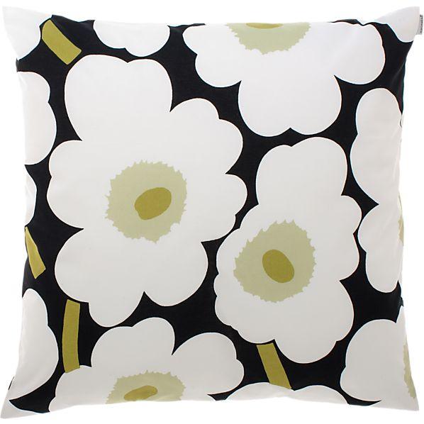 """Marimekko Pieni Unikko White 20"""" Pillow"""