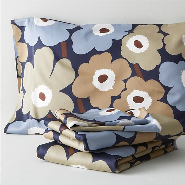 Marimekko Pieni Unikko Dusk Twin Extra Long Sheet Set