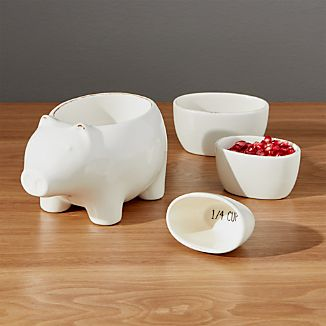 Pig Measuring Cups Set of Four