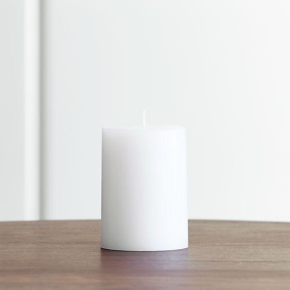 "White 3""x4"" Pillar Candle"