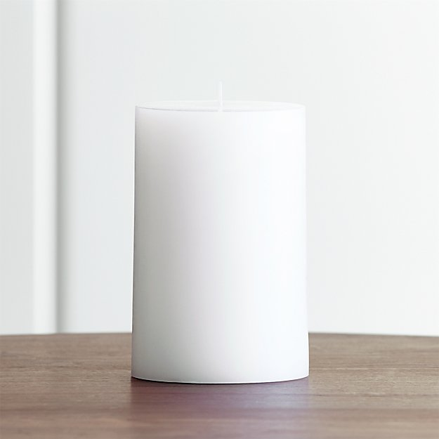 how to clean a white pillar candles