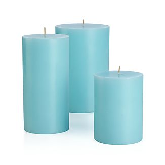 Aqua candle is great for spring and summer lighting. Use alone or group together with pillar candles of different heights.Paraffin waxCotton wickUnscentedMade in Vietnam