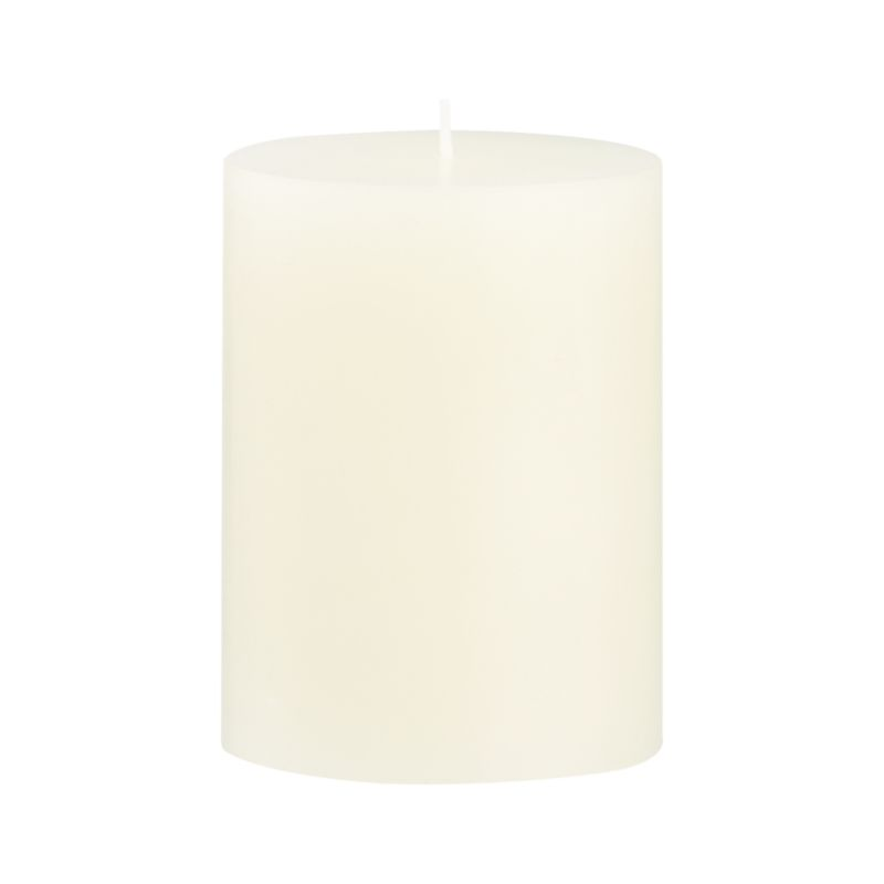 Stock up on the classic ivory pillar candle, in a variety of sizes.<br /><br /><NEWTAG/><ul><li>Paraffin wax</li><li>Cotton wick</li><li>Unscented</li><li>Burn time: 46 hours</li><li>Made in India</li></ul>