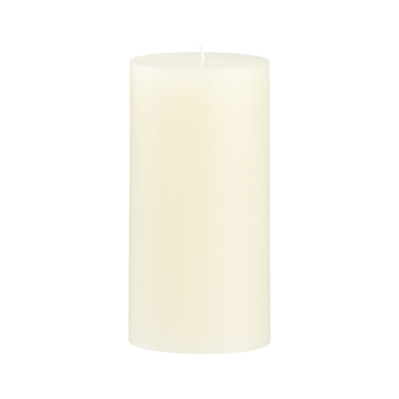 Stock up on the classic ivory pillar candle, in a variety of sizes.<br /><br /><NEWTAG/><ul><li>Paraffin wax</li><li>Cotton wick</li><li>Unscented</li><li>Burn time: 85 hours</li><li>Made in India</li></ul>