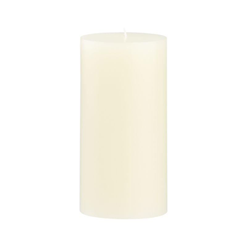 Stock up on the classic ivory pillar candle, in a variety of sizes.<br /><br /><NEWTAG/><ul><li>Paraffin wax</li><li>Cotton wick</li><li>Unscented</li><li>Burn time: 85 hours</li><li>Made in India</li></ul>