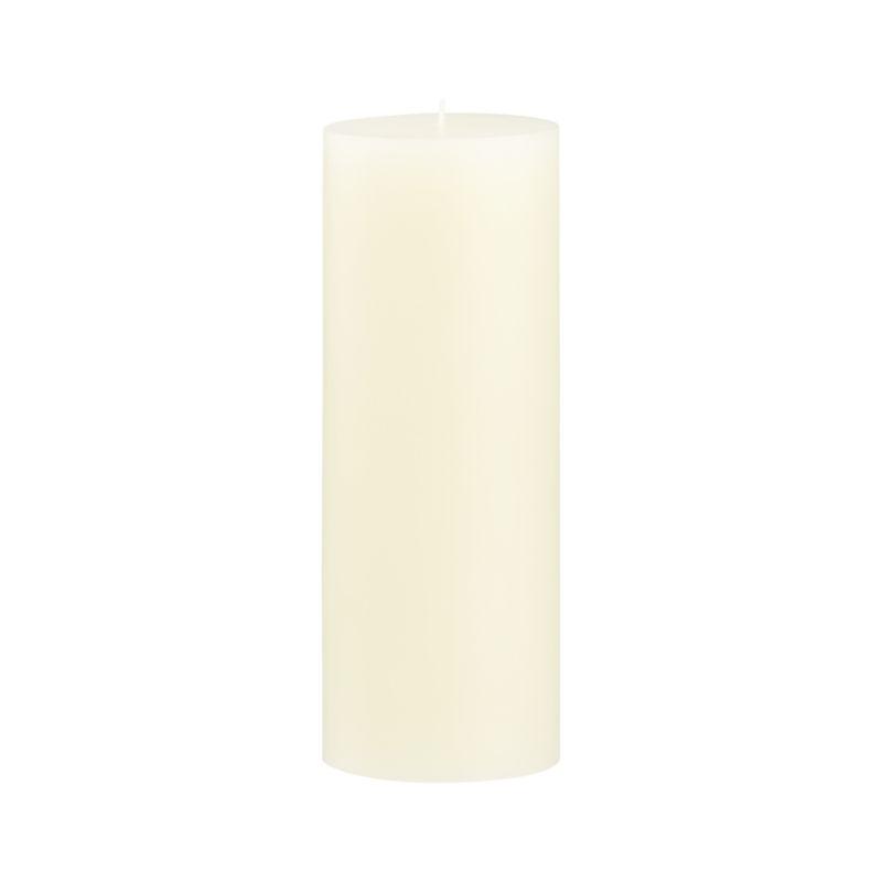 Stock up on the classic ivory pillar candle, in a variety of sizes.<br /><br /><NEWTAG/><ul><li>Paraffin wax</li><li>Cotton wick</li><li>Unscented</li><li>Burn time: 115 hours</li><li>Made in India</li></ul>