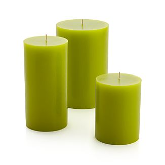 "Green 3""x6"" Pillar Candle"