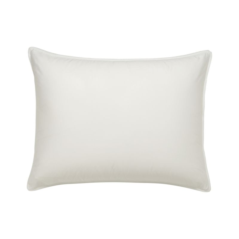 """Upgrade to our exclusive new pillow protector in 300-thread-count cotton with a beautiful sateen finish and zipper closure for easy laundering. <a href=""""/bed-and-bath/bed-pillows/1"""">Bed Pillows</a> also available.<br /><br /><NEWTAG/><ul><li>300-thread-count cotton</li><li>Machine wash in warm water, like colors, no bleach</li><li>Tumble dry, medium heat until thoroughly dry</li><li>For best results, professional laundering is recommended</li><li>Do not dry clean</li><li>Made in China</li></ul><br />"""