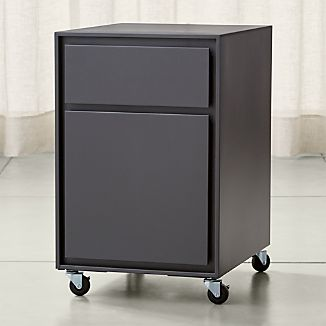 Pilsen Graphite Two Drawer File Cabinet