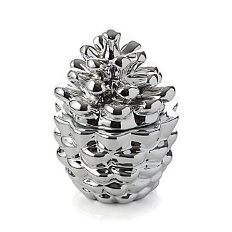 Silver Pinecone Fir Scented Candle