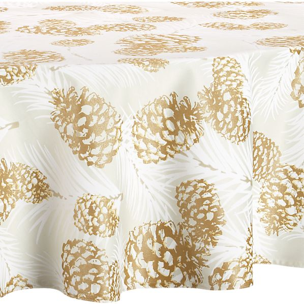 """Pinecone 72"""" Round Tablecloth"""
