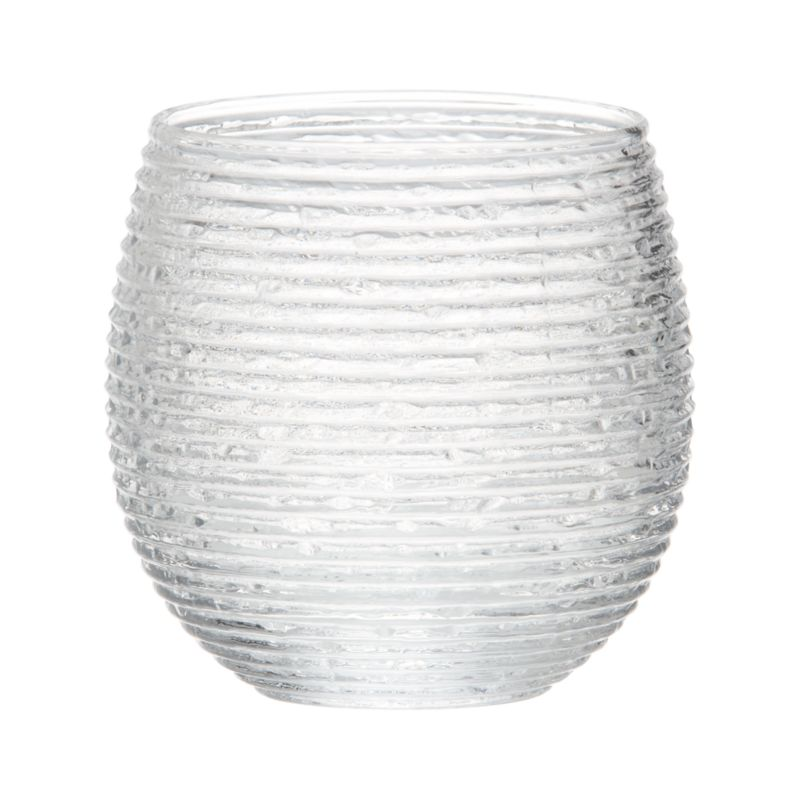 Rippled organic texture lends a frosty look to fruit punches, margaritas, or iced water. Stylish rounded shape cradles in hand, fashioned by master Italian glassmakers.<br /><br /><NEWTAG/><ul><li>Handmade glass</li><li>Not for use with hot liquids</li><li>Hand wash</li><li>Made in Italy</li></ul>