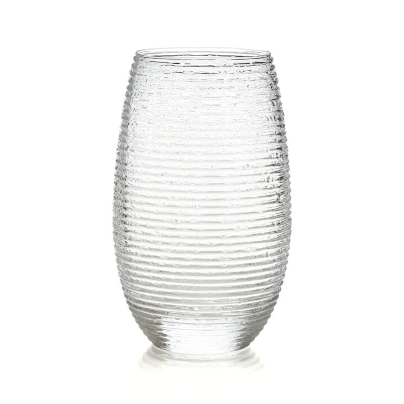Rippled organic texture lends a frosty look to iced tea, beer or water. Stylish rounded shape cradles in hand, fashioned by master Italian glassmakers.<br /><br /><NEWTAG/><ul><li>Handmade glass</li><li>Not for use with hot liquids</li><li>Hand wash</li><li>Made in Italy</li></ul>
