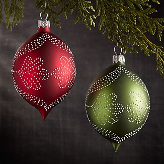 Pindot Drop Ornaments