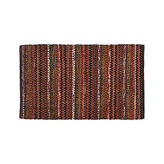 """Pinstripe Copper 30""""x50"""" Rug"""
