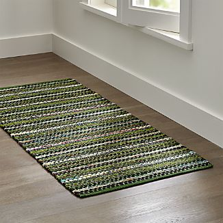 Pinstripe Evergreen Rug Runner