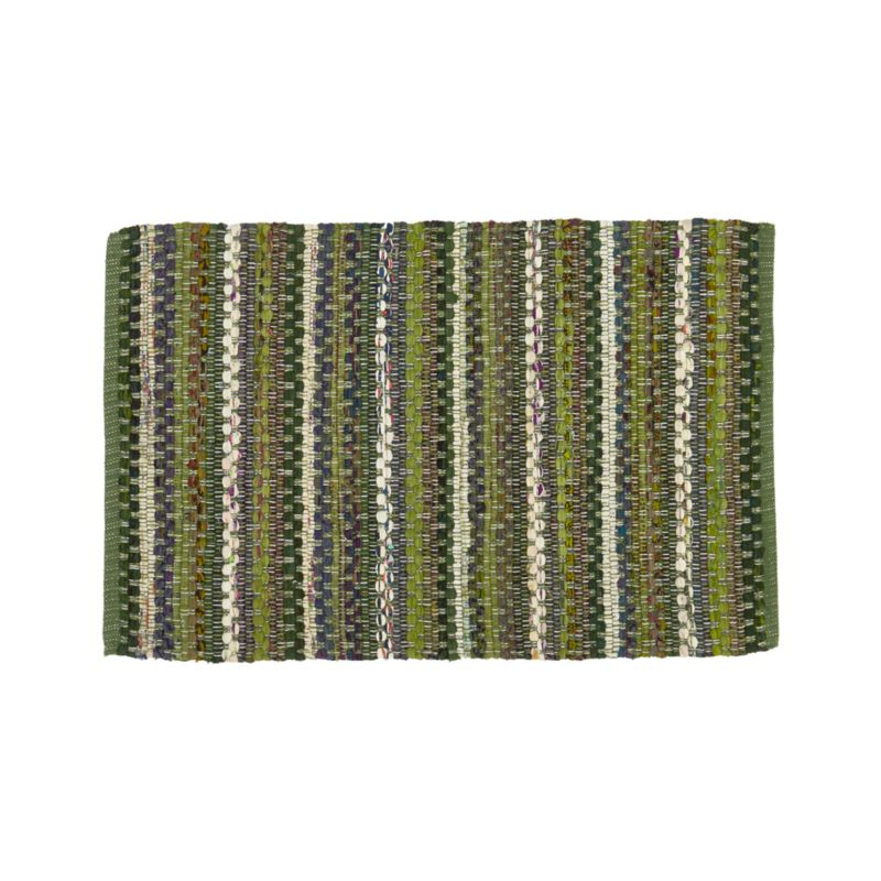 Pinstripe Evergreen 2'x3' Rug