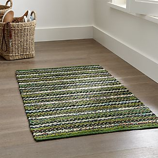 Pinstripe Evergreen Rug