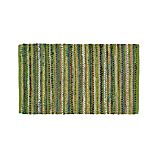Pinstripe Green Cotton 30'x50' Rag Rug