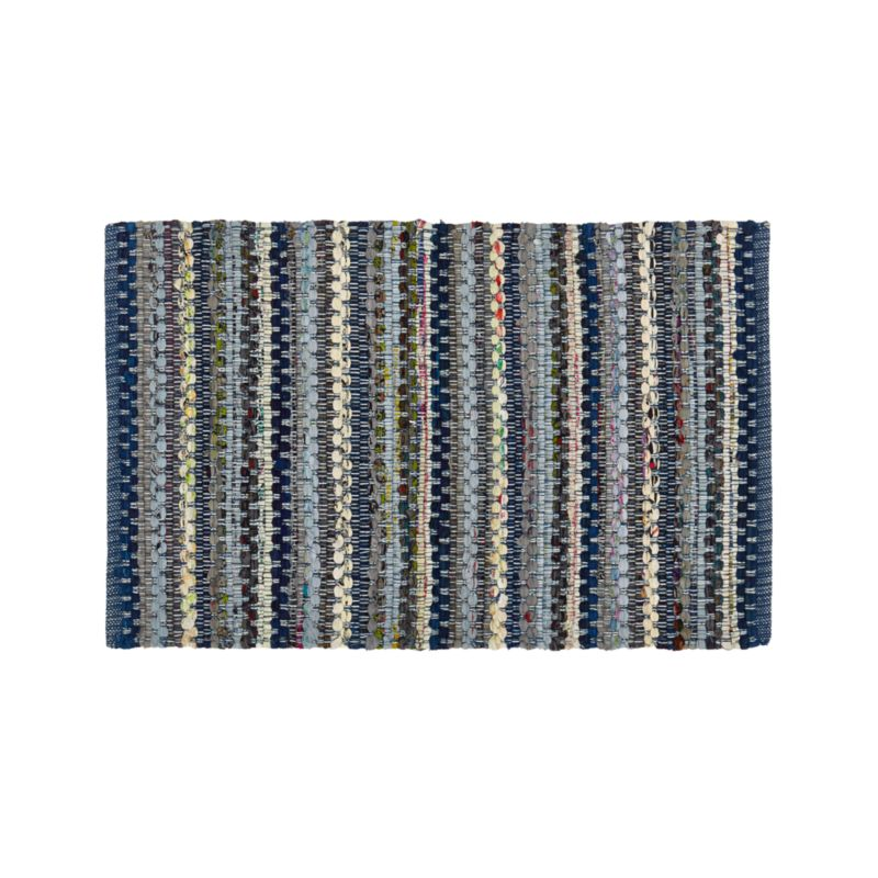 Pinstripe Indigo 2'x3' Rug