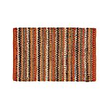 Pinstripe Orange Cotton 2'x3' Rag Rug