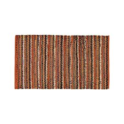 Pinstripe Orange Cotton 30'x50' Rag Rug