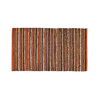 Pinstripe Orange Cotton 30'x50' Rag Rug