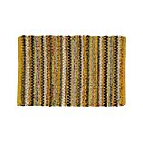 Pinstripe Yellow Cotton 2'x3' Rag Rug